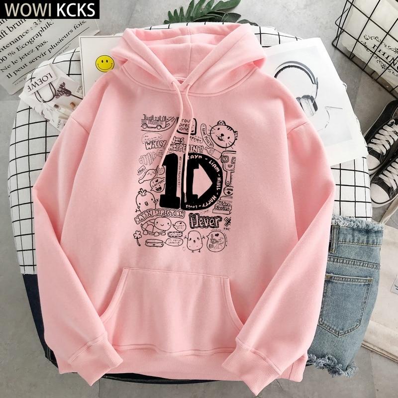 Winter One Direction Graphic Harry Styles Merch Hoodie Streetwear Crop Top Women