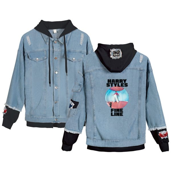 Harry Styles Denim Jacket Men Women Hooded Denim Jacket