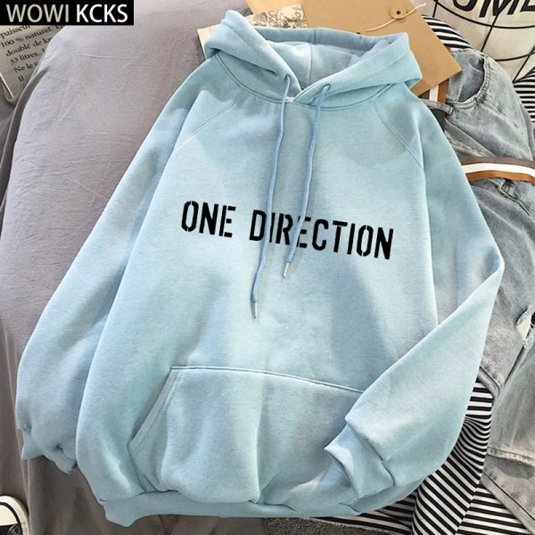 Winter One Direction Graphic Harry Styles Merch Hoodie Streetwear Crop Top Women