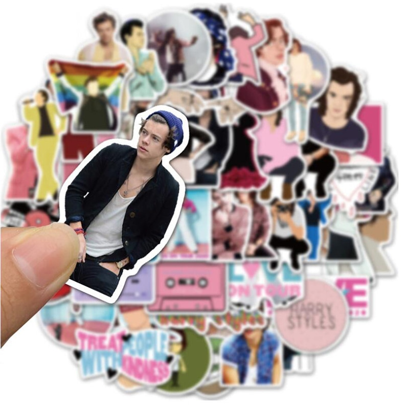 Harry Styles 50/pcs PVC Series Stickers Travel Suitcase Wall Pencil Box Bike Phone Sliding