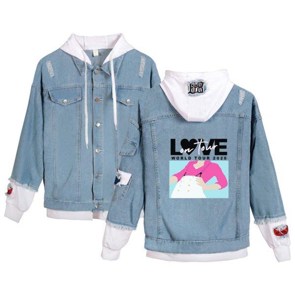 Harry Styles Kpop Hoodies Fine Line Denim Jacket For Women and Men