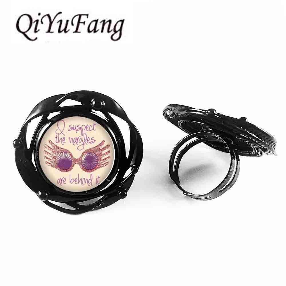Harry flower big ring Steampunk Bronze vintage women Jewelry men