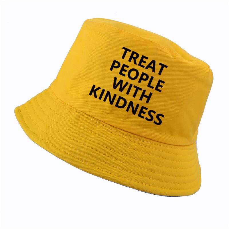 Harry Styles Treat People With Kindness bucket hat Women Fashion Letter Printed fisherman hat