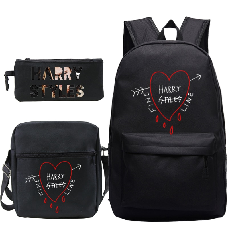 3 PCS/Set Harry Styles Printed Backpack Mochila Children Girls boys School Bags 3 Colors Kids Travel Bags back to school gifts