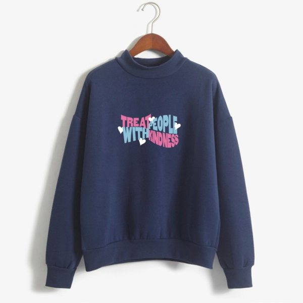 Kpop Hoodies Women Autumn Hoodie Winter Harry Styles Treat People With Kindness Letters