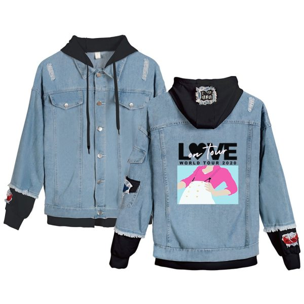 Harry Styles Kpop Hoodies Fine Line Denim Jacket For Women and Men