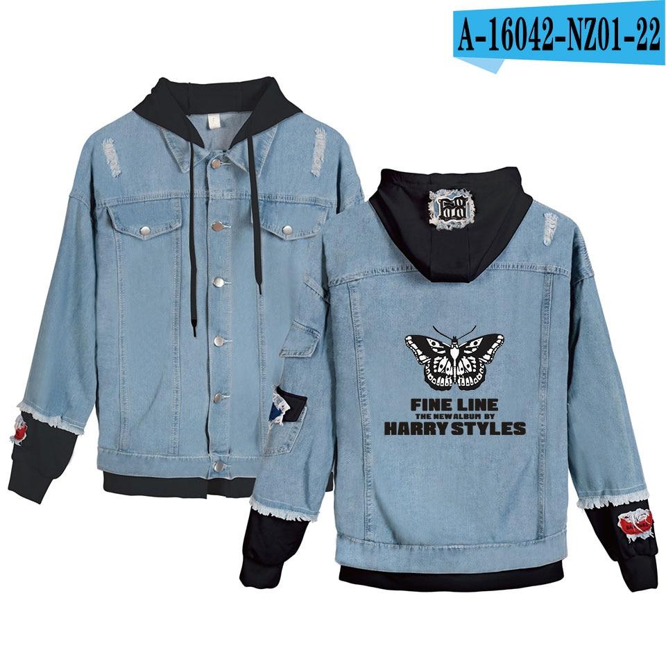 Fashion Design Harry Styles Fine Line Denim Jacket Women Men