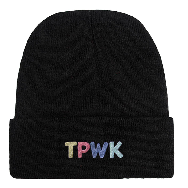 Treat People With Kindness TPWK Harry Styles Beanie Hat Embroidered Knit Cap
