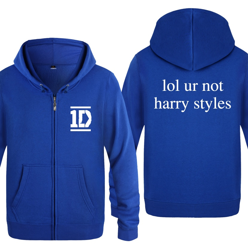 Harry Styles Men Fashion Fleece Zipper Jackets Cardigans Hooded Sweatshirts Coat