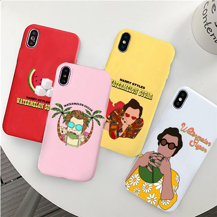 "HARRY STYLES ""WATERMELON SUGAR"" phone case For iPhone 6/6s, 6Plus/6SPlus, 7 / 8 , 7Plus/8Plus, X , XS , XR , XSMax 11pro"