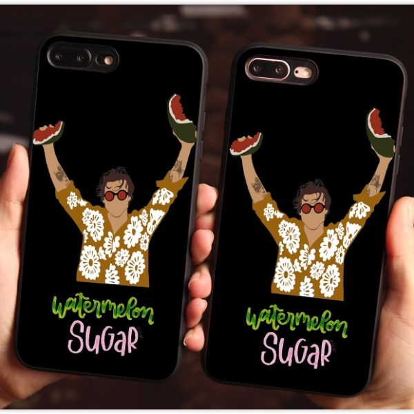 "Harry Styles ""Watermelon Sugar"" black TPU Case phone For iPhone 11 SE X 7 XS XR XSMA 11Pro 11ProMax"