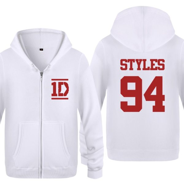 Harry Styles 94 One Direction Music Fleece Zipper Cardigans Hoodies Sweatshirts