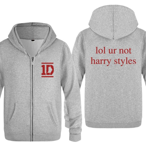 Harry Styles Men's Fleece Zipper Cardigans Hoodies Sweatshirts