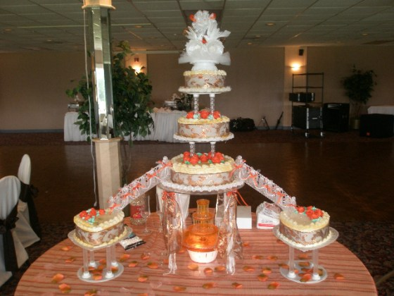 Stair and Fountain Wedding Cakes   Hart Bakery and Gifts     Stair and Fountain Wedding Cakes  OLYMPUS DIGITAL CAMERA
