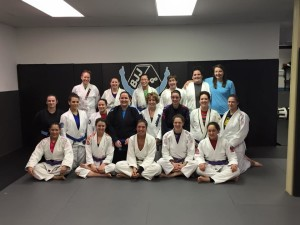 Women's only Jiu Jitsu training at Hart BJJ, Boxing and Mixed Martial Arts.