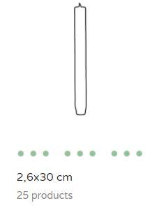Dinerkaars 2.6 x 30 cm
