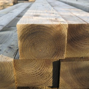 Posts and Large Sections of Treated Timber