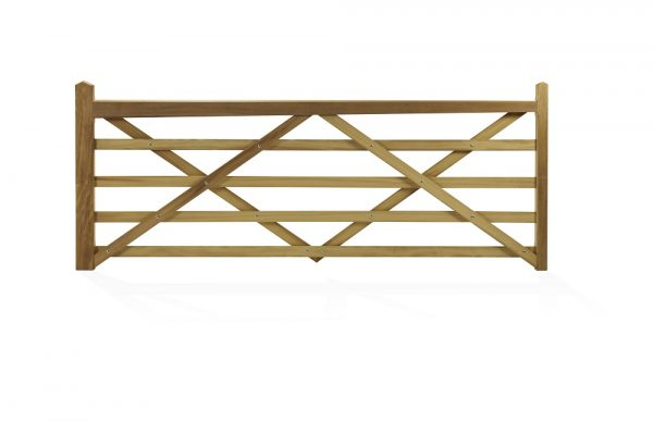 Somerset Iroko Five Bar Gate
