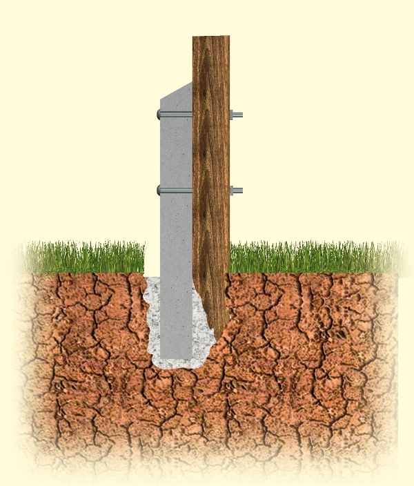 Fence Post Concrete Repair Spur Hartwells Fencing