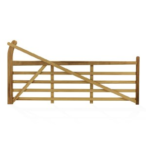 Estate Gate made from Iroko