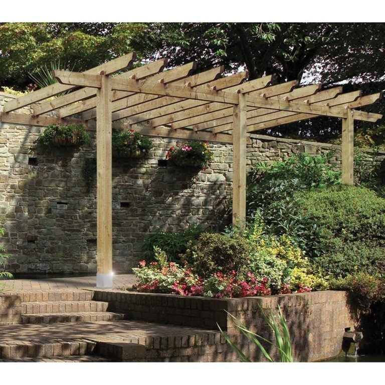 Traditional Pergola Lean to - car port