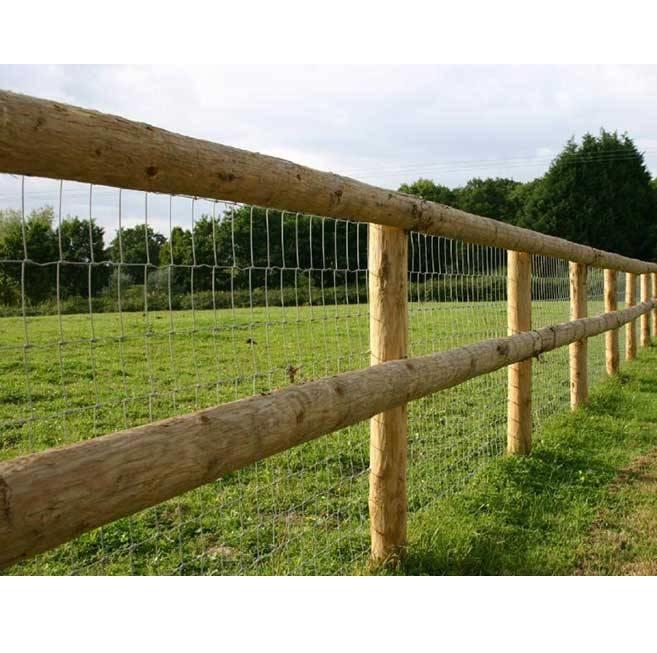 Post and rail round stake half rails hartwells
