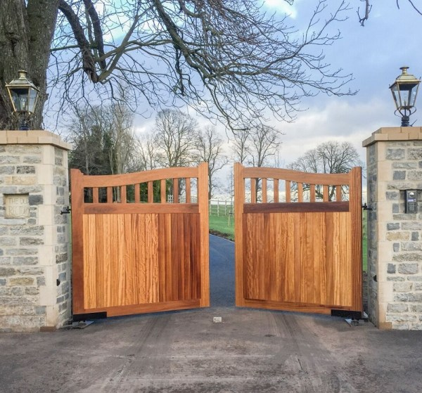 Beckington Entrance Gates with treatment finish