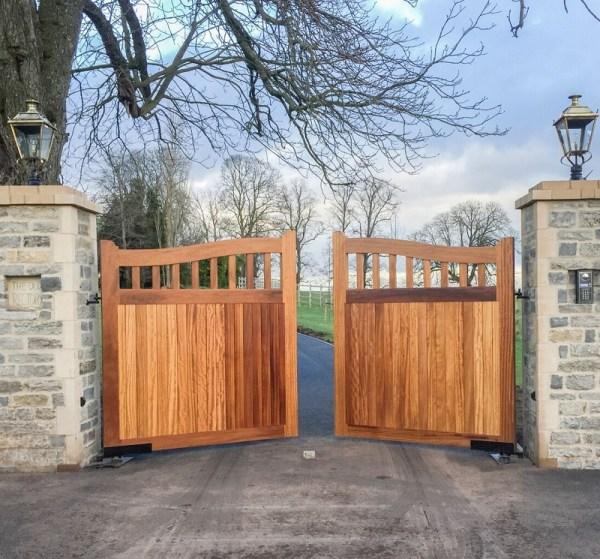 Beckington Entrance Gates with treatment finish