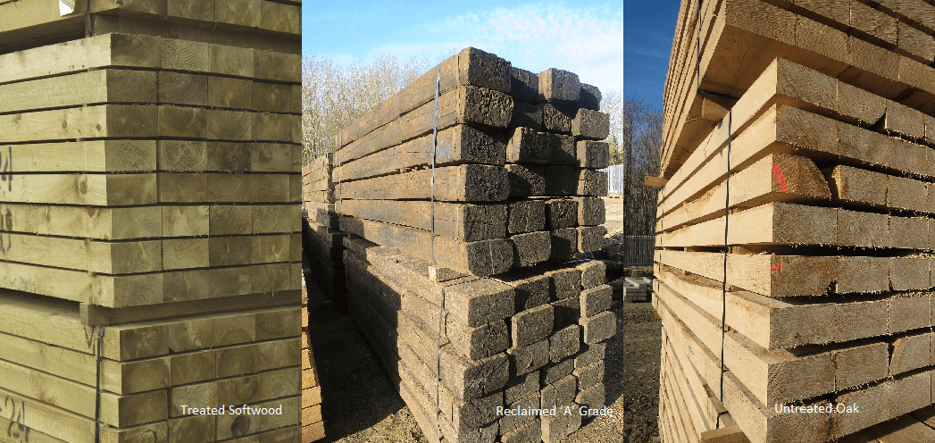 Garden sleepers – treated softwood, reclaimed or oak? - Hartwells
