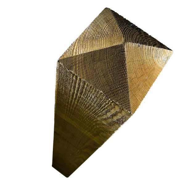 Treated Softwood Post with a four way weather - available from stock