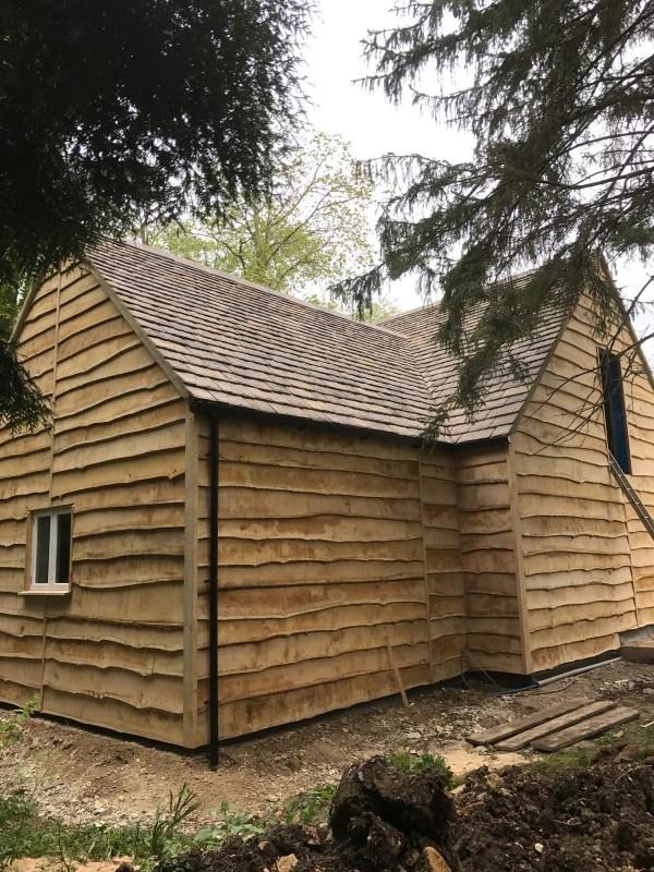 Oak Waney Edge Cladding Example