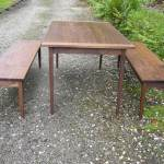 American Black Walnut Table and Benchs