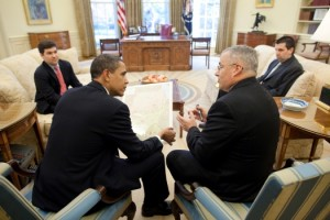 President Obama meeting with Special Envoy to Sudan Scott Gration