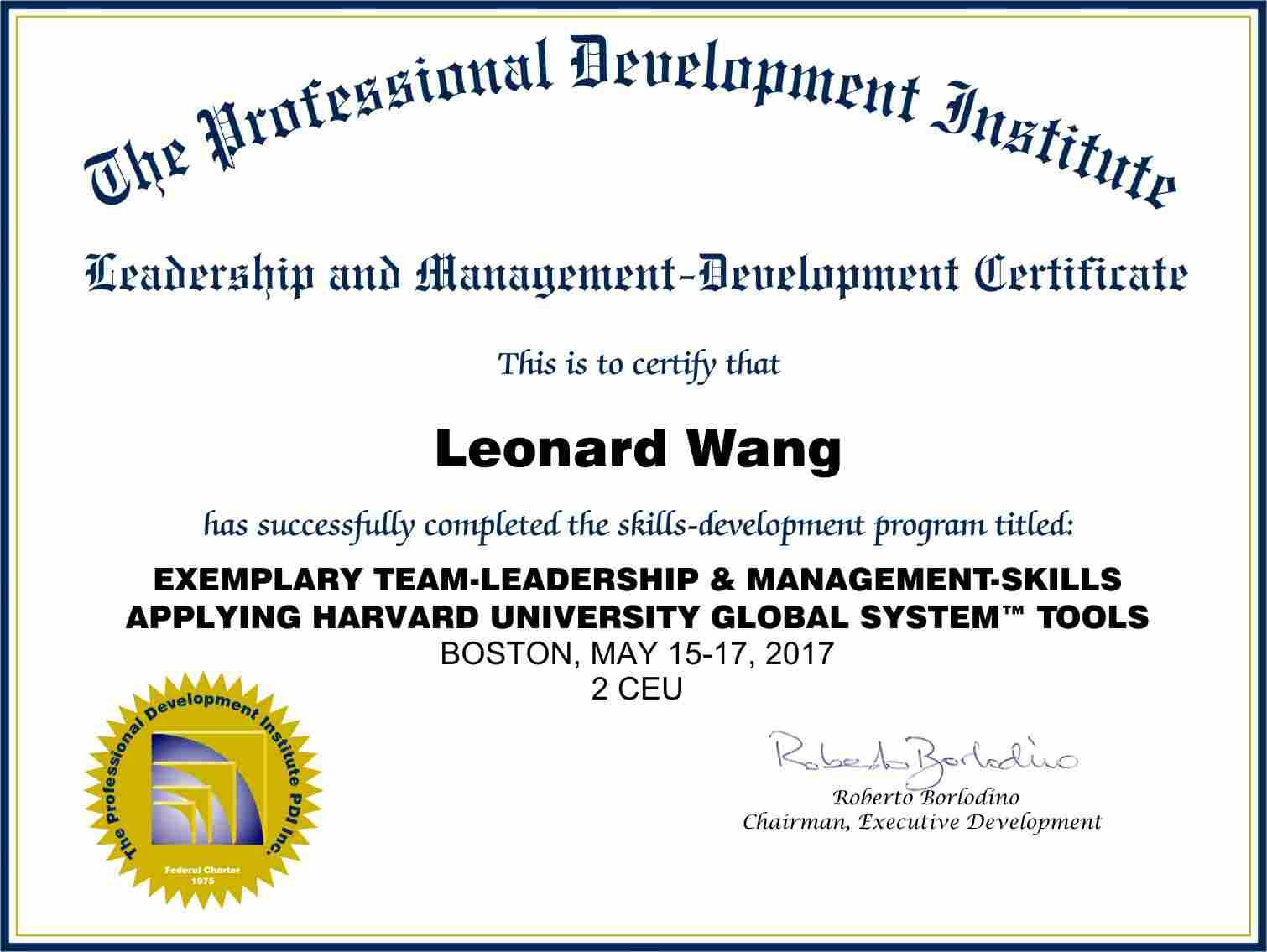 Team Leadership And Management Workshop With Harvard University System