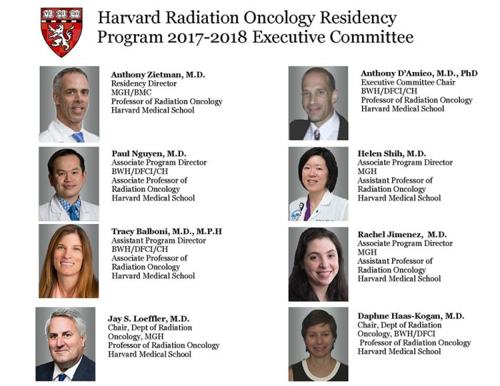 Harvard Radiation Oncology Program - 2017 Executive Committee