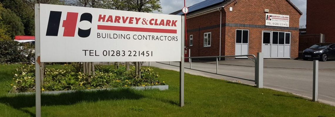 This is a picture of Harvey & Clark's offices (builders in Swadlincote)