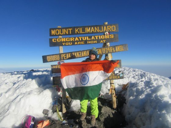 "Haryana Shivangi Pathak scales ""Mount Kilimanjaro"" after ""Mt. Everest"""