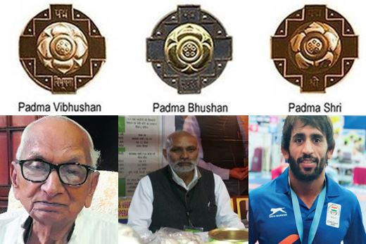 5 Persons From Haryana Including Bajrang Poonia Honored with Padama Award -2019