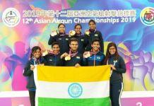 12th Asian Airgun Championship 2019 : India Top