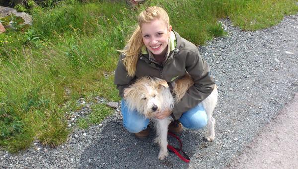 Alina und ihr Hund © Alina Lipka
