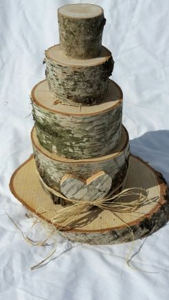 Torte aus Birkenholz