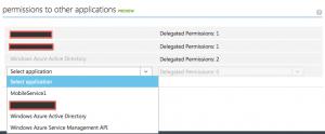 Azure AD app permission settings