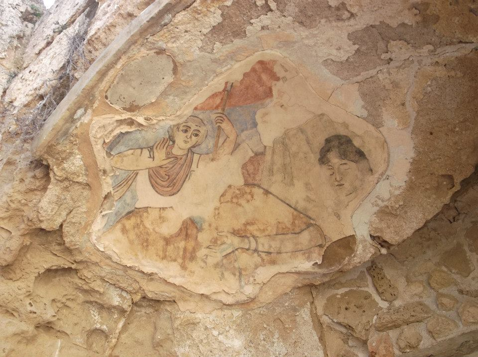 An image of Roman paintings at Salamis, North Cyrpus