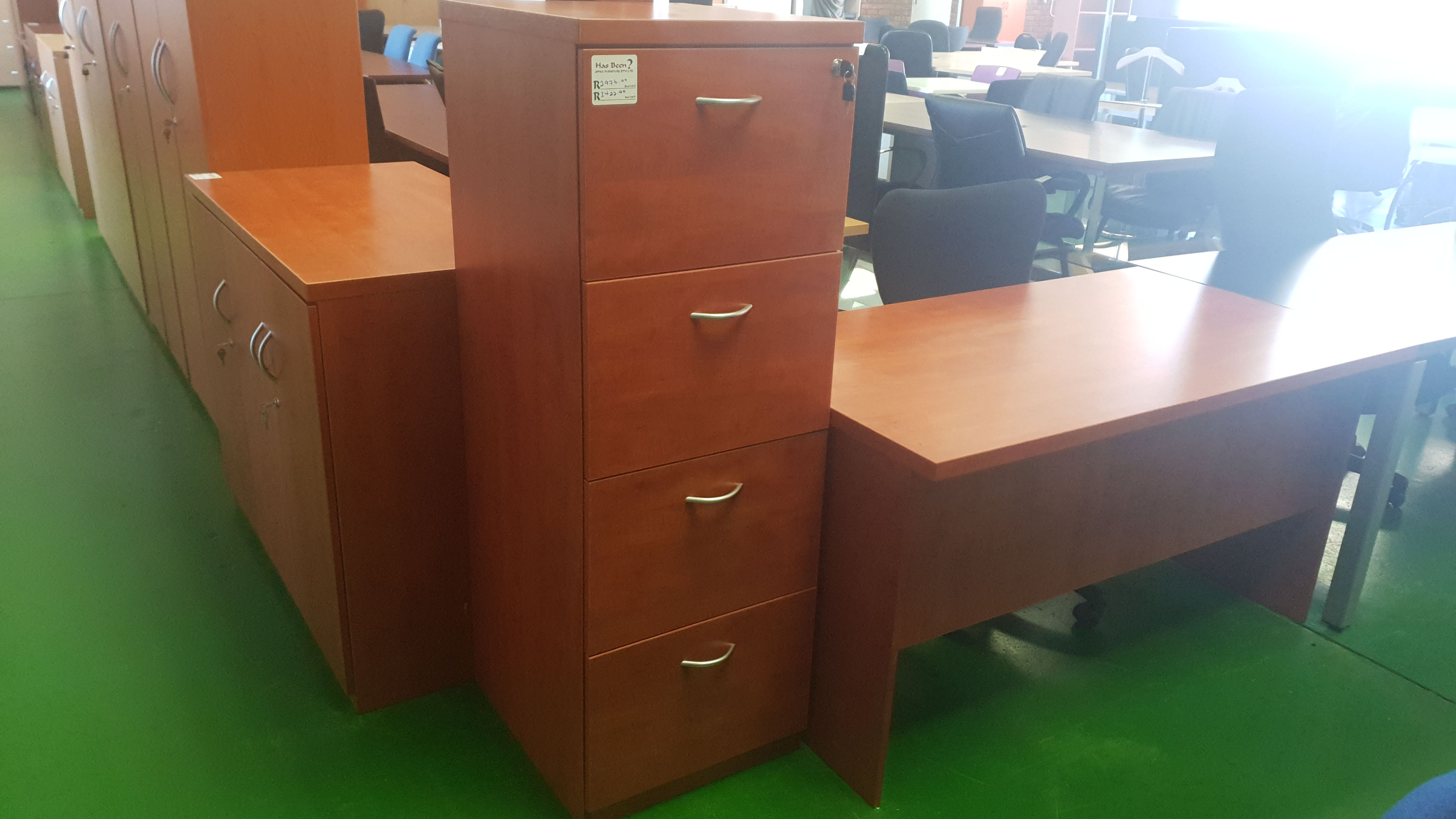 Cherry Royale Wooden 4 Drawer Filing Cabinet For Sale In Johannesburg Has Been Office Furniture