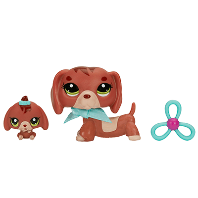 littlest pet shop dachshund and baby dachshund pets toys for girls