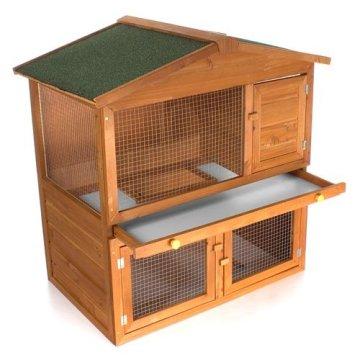 Der Happypet Hasenstall Kaninchenstall WRB101 - Den richtigen Kaninchenstall kaufen. Die Reinigung ist recht einfach dank herausnehmbaren Schubladen.