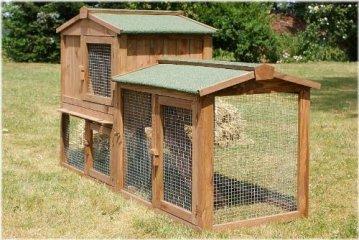 Der Zooprimus Stall 1 - Kaninchenstall Hasenstall Hasenkäfig Außenbereich - Kaninchenstall kaufen. Viel Platz durch geöffnete Türen für ein Außengehege. Für mehrere Kaninchen geeignet - Kaninchenstall kaufen.