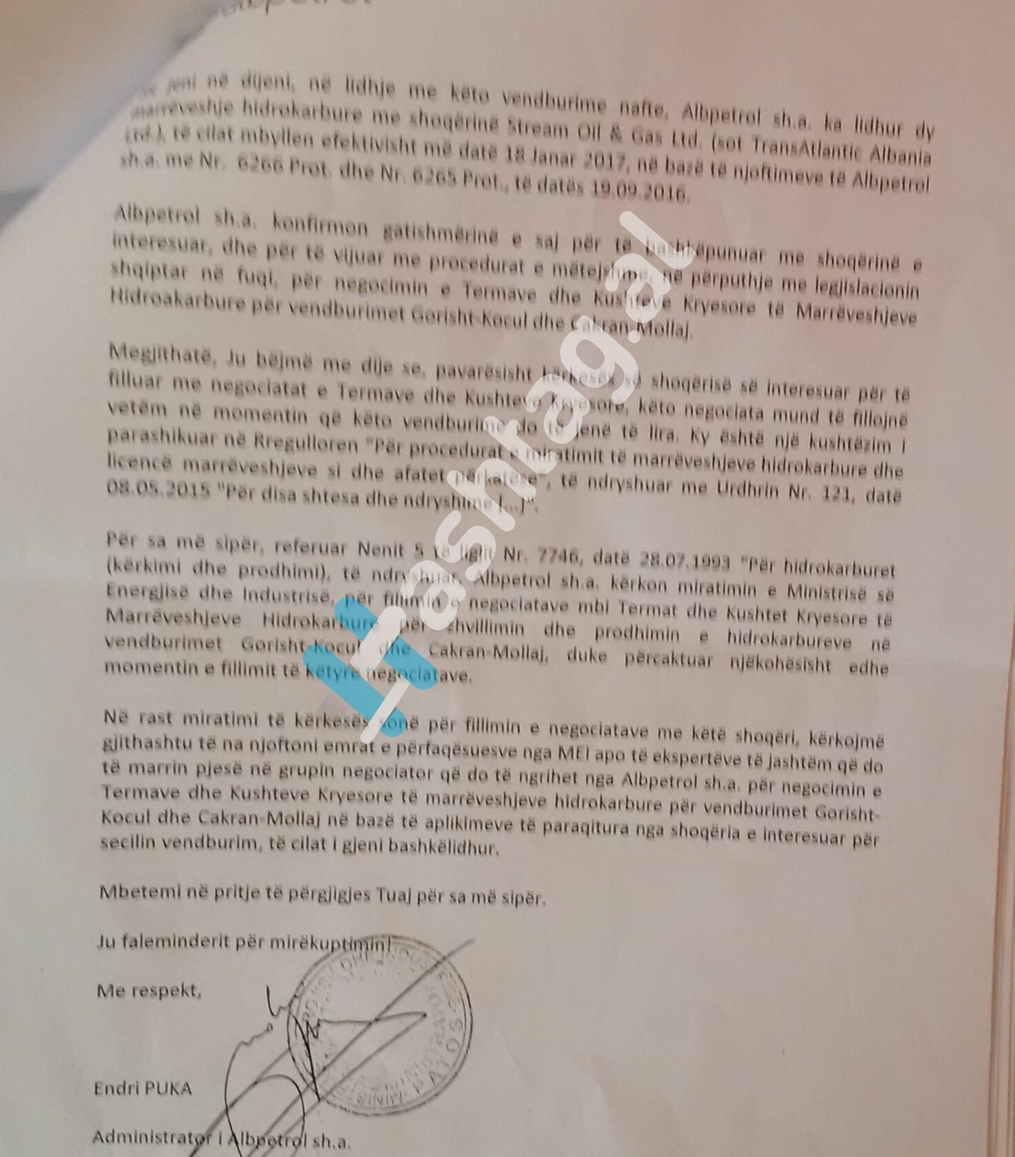 ME LOGO Endri Puka kerkon miratim per te hyre ne negociata zyrtare 2