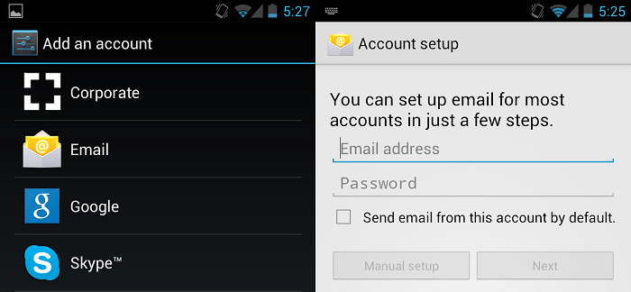 Android 101: How to Add an Email Account