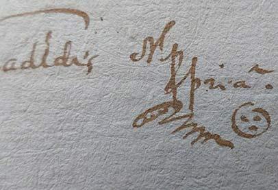 أقدم 'ايموجي' بتوقيع محام من القرن السابع عشر